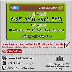 شماره کارت 6063-7311-0879-4299